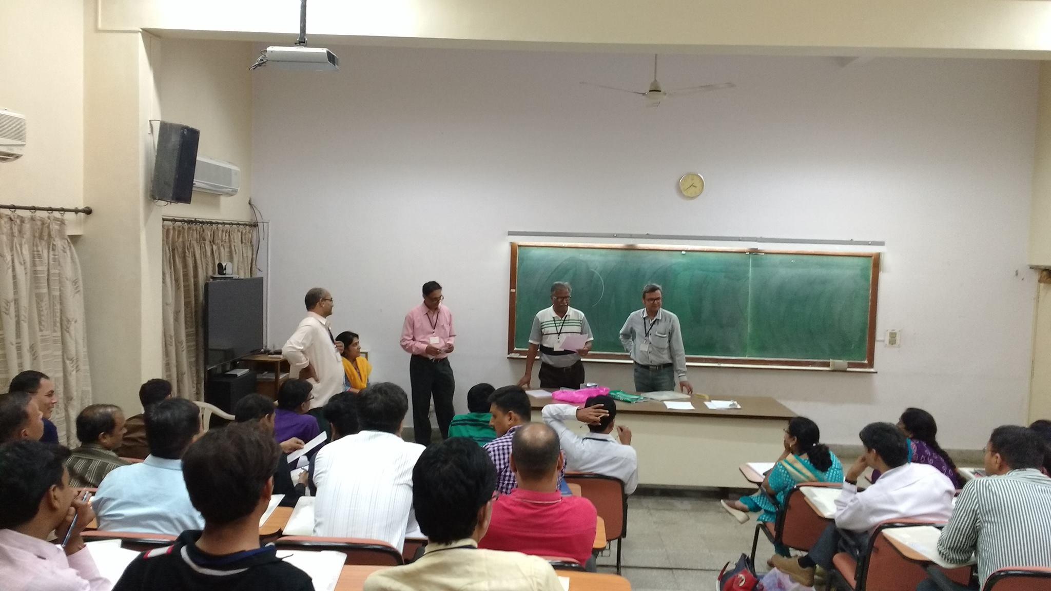 Teachers are presenting their ideas